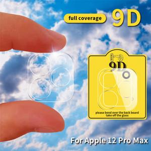 투명한 12 Len Phone12 ProMax 렌즈 강화 유리 필름 12mini 카메라 보호기 용 전화 HD 보호자