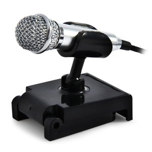 Hot Sale 3.5MM High-performance Metal Wired Mini Mobile Phone Tablet Condenser Uni-directional Microphone with Stand