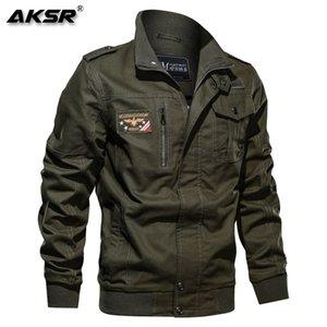 AKSR Hommes Marque Vêtements Mode Coton Veste militaire Automne Hiver Soldat pilote Vestes Homme Vestes Bomber Taille Plus 6XL Y1112
