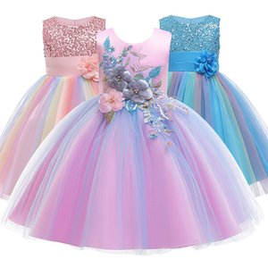 Baby Embroidered Formal Princess Dress for Girl Elegant Birthday Party Dress Girl Dress Baby Girl Christmas Clothes 2-14 Years Y1130