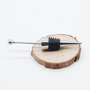 Fancy Gadget Add a bead Jewelry Rhinestone Lampwork Decorative Beaded Wine Bottle Stopper Zinc Alloy Silver Beadable Bottle Stopper YYS3516