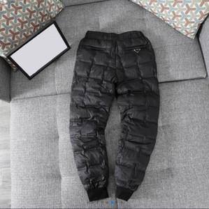 20SS Top Nylon Homme pantalon Travel Rétro Classic Swew Sweat Pantalon 90% Blanc Goose Vérifiez Asiatique Taille Asiatique Taille Triangulaire Métal Hiver Down Pants