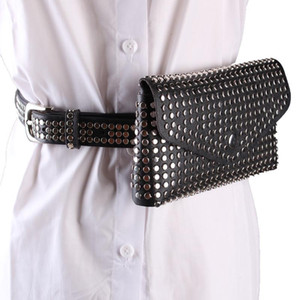 برشام فاني حقيبة حزام المرأة الخصر حزم شخصية حقيبة الهاتف المحمول الجينز الشرير حزام