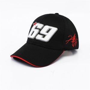 Nuovo arrivo 2020 Black Sport Motorcycle Hat Moto GP 69 Cappelli da baseball Cappellino da corsa da corsa Casquette da uomo F1 Casquette