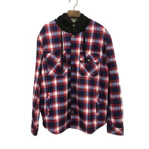 QRWR Winter New Long Sleeve Men's Jacket Casual Plaid Fleece Men Parkas Loose Thick Warm Parka Coat Outwear High Quality