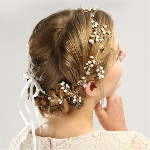 Trend Bridal Pearl Tiara Металлические Листья Цветочная Корона Горный Хрусталь Свадебные Волосы Аксессуары Ювелирные Изделия Лента Кристаллические Звезды DIY Оголовки