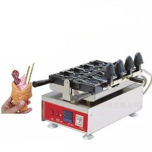 Dijital 4 adet Dondurma Taiyaki Makinesi V-Şekilli Açık Ağız Balık Waffle Makinesi Ticari Popüler Dondurma Balık Waffle Maker