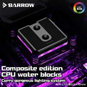 Barrow LTCB03A-04N LTCP03A-04N CPU Water Block for all AMD platform(Brief series brass POM) Jetting type micro waterway