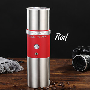 2020 New Filter Coffee Machine,Portable Electric Coffee Machine USB Charging Grinder One-Button Operation Travel Outdoor Ma