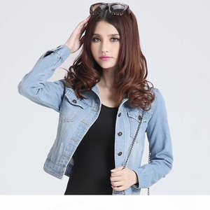 Womens jackets coats 2019 Spring fashion jeans Jackets Denim Women slim cotton solid Jacket for women Outerwear ladies Coats T190919