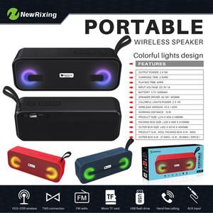 2021 Tragbare Bluetooth-LED-FM-Lautsprecher tragbarer drahtloser Sound wie Markenlautsprecher 3d Stereo-Subwoofer Lautsprecher Altavoz Caixa de Som