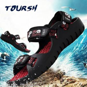 Toursh Waterproof Sepatu Pria Outdoor Hiking Sandals Shoes Summer Shoes Mens Trekking Beach Men 'S Sneakers Krosovki 2021