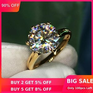 Solitaire 1.5ct Lab Diamond 24K Gold Ring Original 925 sterling silver Engagement Wedding band Rings for Women Bridal Jewelry Z1121