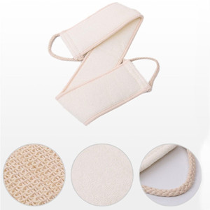 1PC Natural Soft Exfoliating Loofah Back Strap Bath Shower Unisex Massage Spa Scrubber Sponge Body Skin Health Cleaning Tool DHF4624