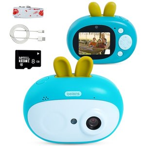 Beiens Kids Digital Camera Toys 8 Megapixeles Children Birthday Gift Toddler Educational Toy with 8G SD Card for Kids Age 3-10 LJ200818
