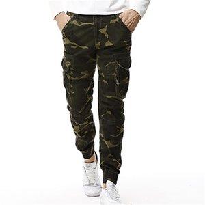 Moda Spring Mens Tactical Cargo Joggers Hombres Camoufflage Camo Army Military Casual Algodone Pantalones Hip Hop Masculino Pantalón 201218