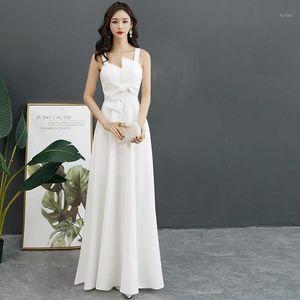2020 Nuovo elegante sottile sexy sexy white sleeveless abito da sera minimalista vestito stile cinese migliorato qipao taglia s-xxl1