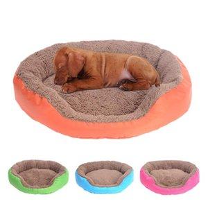 Dog Bed Sleeping Mat Soft Round Pets Beds Winter Warm Cat Kitten Cushions Pet Supplies Dog Kennel Puppy Cats Mat