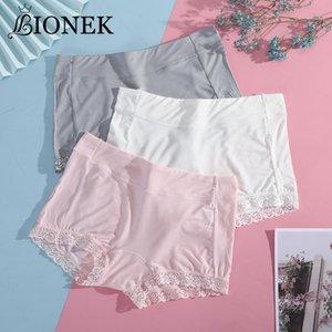 BIONEK Women Lingerie Plus Size Safety Pants Soft Comfortable Cotton Boxer Shorts With Lace Underwear Panties Hot Sale Knickers