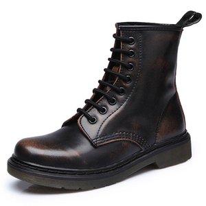 Мужчины Boots Spring Boatske Boots Обувь Зима Натуральная Кожаная Обувь Человек Панк Повседневная езда Ковап Ботас Хомбр Плюс Размер 46 201215