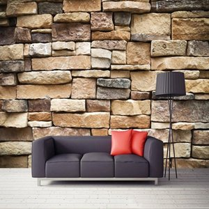 Drop Shipping Custom 3D Photo Wallpaper Vintage Rustic Stone Brick Wall Paper Mural Bedroom Restaurant Background Wall Painting1
