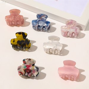 Hair Claw Barrette Clamp Jelly Colors Acrylic Ponytail Crab GirlsHairpin Styling Accessories For Women