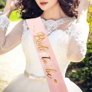 Bridal Shower Banner Team Bride Для Sash Bachelorette Party DCOR поставляет свадебные украшения Ночные куриные аксессуары для вечеринки WMTDKM