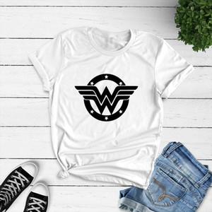 Summer Cotton Women T shirt Anime Wonder Woman T Shirt Superhero Tee Femme Feminist Printed Harajuku Manga Tshirt