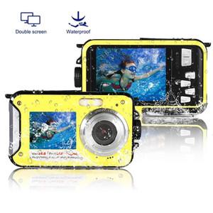 Crianças profissionais Câmera Digital Underwater 10ft Full Hd Video Consumer Camcorders para meninos meninas impermeável Kamera Dual Screen Y1120