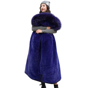 Winter Coats & Parkas new women coats hooded fur collar Slim long thick warm winter cotton coats snow -30 degree jackets 201123