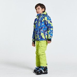 2020 New Ski Suit Kids Winter Snowboard Clothes Warm Waterproof Outdoor Snow Jackets + Pants for Girls and Boys Brand