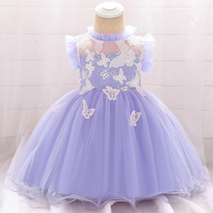 2020 Summer Newborn Baby Girls Dress Christening Clothes 1st Birthday Party Dress Princess Children Clothing Vestidos 6 9 Months