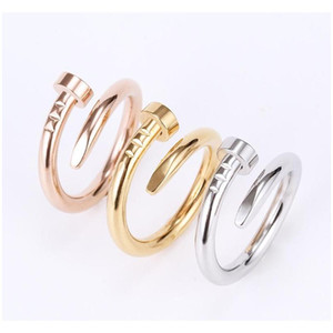 Nail Ring Titanium Steel Gold Ring Black Silver Rose Gold Love Brand Ring For Women Wedding Jewelry Wholesales China jllrhY bdecoat