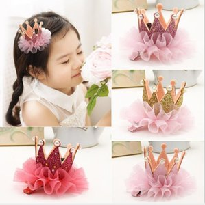 Princess Crown Headdress Hair clip little girl hairpin side clips Hair Accessories Dresses hairdresses crown rings