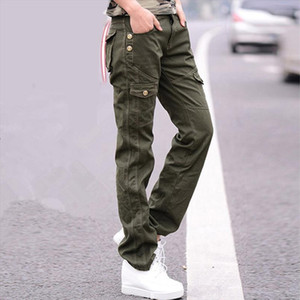 Women Military Cotton Cargo Pants Ladies Spring Casual Loose Trousers Army Green Plus Size Camouflage Pants Females Clothing