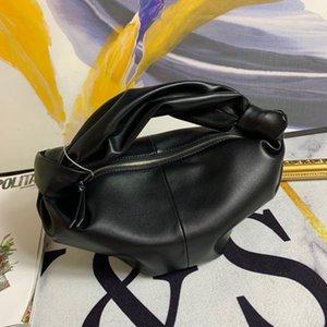 New spring   summer 2020 solid color handbag leather bag women fashion dumpling bag large capacity hand bag
