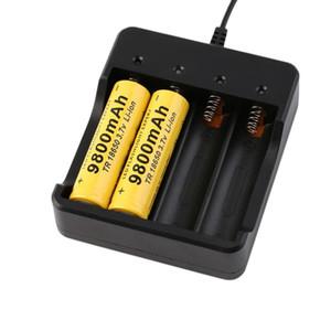 18650 배터리 충전기 4 슬롯 AC 110V 220V 4.2V 스마트 4 회 충전식 충전식 배터리