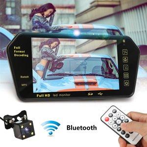 7inch LCD MP5 Bluetooth Car Parking Parcheggio Specchio Monitor + Retromarcia Auto Camera Wireless RCA View Video Ricevitore Trasmettitore