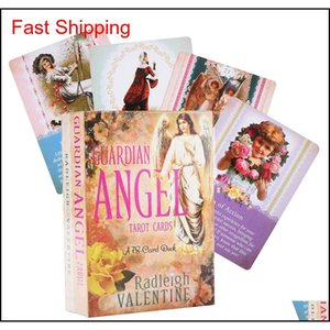 Guardian Angel Tarot Cards A 78-Card Deck Tarot Oracles Cards Everyday And Electronicguidebook Cards Game Toy Witch Guanrdian Angel N2Aok