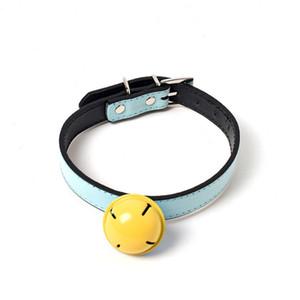 Pendurado Bell Animal Collar Couro Ajustável Band Band Terce Colares De Cão Pet Supplies Passeio Gato Ao Ar Livre Chien Chokers 5 5TD C2