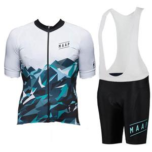 2019 Maap Team Uomo Abiti da ciclismo Estate MTB Bicycle Jersey Bib Shorts Suit Suit manica corta Bike Uniforme Quick Dry Racing Abbigliamento Y050802
