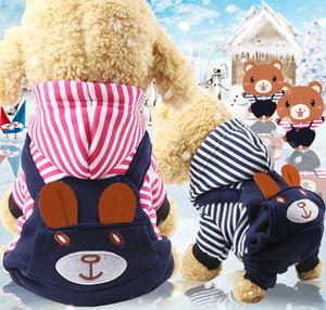 Niedliche Cartoon-Hundekleidung für kleine mittelgroße große große Hunde Teddy-Haustier Hoodie Hund Kleidung T-shirt Winterwarke Haustierkleidung Großhandel billig