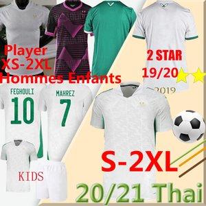 20 21 Cezayir Oyuncu XS-XXL Futbol Formaları 2 Yıldız Hayranları Mahrez Bounedjah Bouazza 19 20 Cezayir Maillot de Futbol Shir Erkekler Kids Kits Üniforma