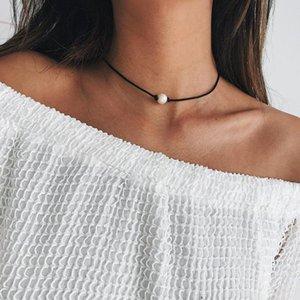 Kinfolk 2020 collares de moda collar de perlas estilo coreano cadena de la cuerda de las mujeres simples del cuello Cadenas Collares regalos