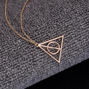 Auf Lager Hoher Qualität Schmuck das tödliche Hallow Triangle Halskette Antique Harry Silber Bronze Gold Todesheilwarder Anhänger Potter