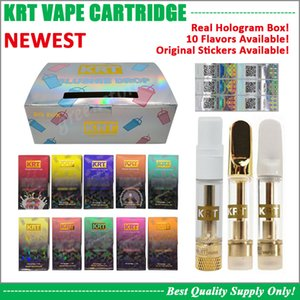 Real Hologram KRT Vape Cartridge Newest Box 0.8ML 1.0ML Pyrex Glass Tank Ceramic Coil 510 Battery Cart Cookies Master Chief