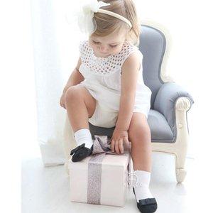 Kacakid 2 pares / set Kids Baby Girls Anti-deslizamiento Calcetines de algodón recién nacido Infantil 1-4 años