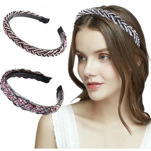 New Fashion Women Twists HairBand Cross Knot Braid Headband Adult Headwear Fine Side Turban Hair Accessories hair ties