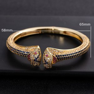 European and American Serpentine Rings with Diamond-plated-plated Adjustable Open Lady Bracele