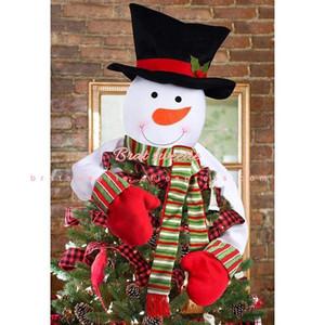 Christmas Tree Topper Snowman Hugger Xmas Holiday Winter Wonderland Decoration for Home Navidad Noel Ornament Party Supplies